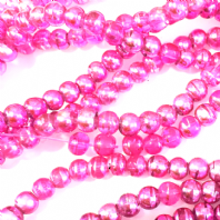 36 Inches Pink 4mm Drawbench Glass Round Beads